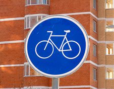 Free The Sign Of A Cycle Track Stock Images - 17866564