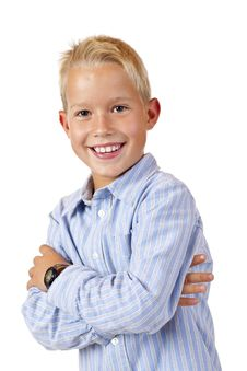 Free Portrait Of Young Smiling Boy With Crossed Arms Stock Photos - 17866573