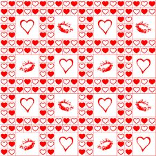 Free Valentine Seamless Pattern. Stock Images - 17866614