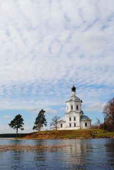 Free Church And Island On Lake Stock Image - 17866871