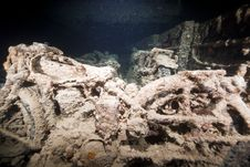 Free BSA WDM 20 Motorcycles In The SS Thistlegorm. Stock Photography - 17866992