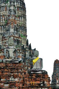 Ruin Buddha Statue Stock Photography