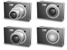 Free Silver Photo Cameras Royalty Free Stock Image - 17867656