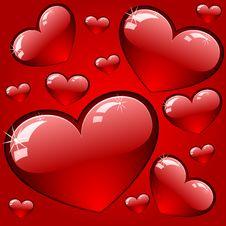 Free Hearts Background Royalty Free Stock Photos - 17868228