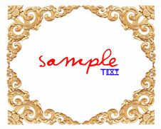Free Thailand Traditional Pattern On White Background Stock Photo - 17868570