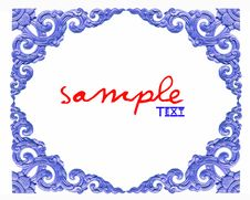 Free Thailand Traditional Pattern On White Background Royalty Free Stock Photos - 17868708