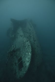 Free The Stern Of The SS Thistlegorm. Royalty Free Stock Photos - 17868828