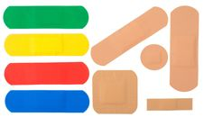 Free Sticking Plasters Royalty Free Stock Photo - 17868855