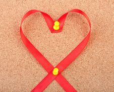 Free Red Heart Shaped Ribbon Stock Photos - 17868923