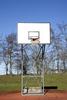 Free Basket Backboard Royalty Free Stock Photography - 17869017