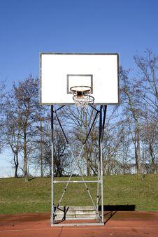 Free Basket Backboard Royalty Free Stock Photography - 17869017