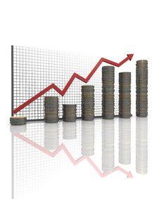 Free Business Statistics Graph Royalty Free Stock Photo - 17869315