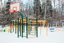 Free Playground  Under Snow Stock Images - 17869444