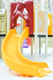 Free Playground  Under Snow Royalty Free Stock Photo - 17869485