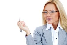 Free Business Woman In Glasses Royalty Free Stock Image - 17869836