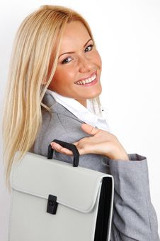 Free Business Woman With Case Royalty Free Stock Photography - 17869967