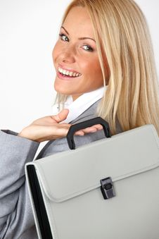 Free Business Woman With Case Royalty Free Stock Photography - 17869987