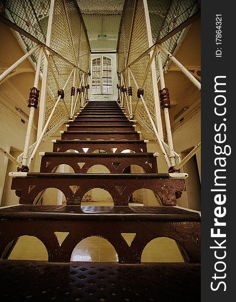 Creepy prison stairway