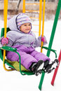 Free Beautiful Girl Sitting On A Swing Outdoor Stock Photos - 17871413