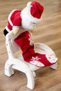Free Santa Claus On A Wooden Chair Royalty Free Stock Images - 17872039