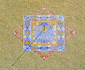 Free Zodiacal Sundial Or Sun Clock On A Wall In Provenc Royalty Free Stock Images - 17872939