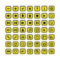 Free Icon Set Of Web Buttons Royalty Free Stock Images - 17877219