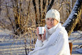 Free Woman In The Winter Forest Royalty Free Stock Photos - 17878868