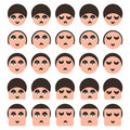Free Set Of People Faces Icons Royalty Free Stock Photos - 17879278