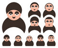 Free Set Of People Faces Icons Stock Images - 17879284