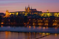 Free Night Prague Royalty Free Stock Photo - 17870325