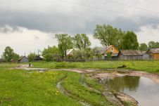 Free Road, Village,puddle Royalty Free Stock Image - 17870326