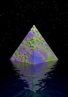 Free Pyramid And Water Stock Image - 17870551