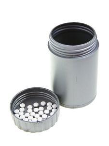 Free Gray Medicine Bottle Stock Photo - 17870930