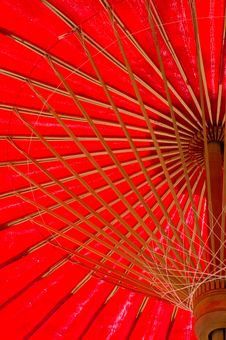 Free North Thailand Traditional Red Umbrella Royalty Free Stock Photo - 17870935