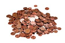 Free A Pile Of European Cents Stock Photos - 17871163