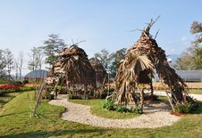 Free Huts Made Of Twigs. Stock Photography - 17871612