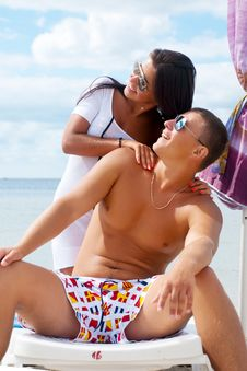 Free Portrait Of Happy Couple Enjoying Vacations Royalty Free Stock Photo - 17871675