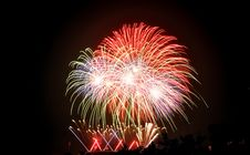 Free International Fireworks Contest At Chiangmai Royalty Free Stock Photography - 17871687