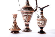 Copper Jug With A Traditional Arabic Ornaments Royalty Free Stock Photos