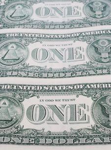 Free One Dollar Bills Stock Images - 17872124
