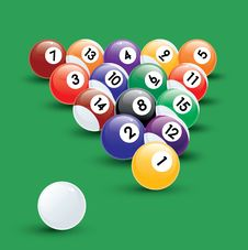 Free Pool Balls Illustration Royalty Free Stock Images - 17872659