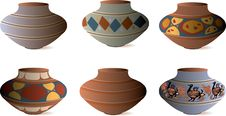 Free Clay Pottery Collection Royalty Free Stock Photography - 17872667