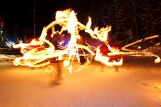 Free Incredible Fire Show Royalty Free Stock Images - 17872879