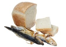 Free Bread And Dried Fish Stock Photo - 17872900