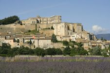 Free Grignan With Lavender Field, Departement Drome, Rh Stock Images - 17872914