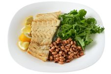 Free Boiled Codfish With Beans Stock Image - 17873001