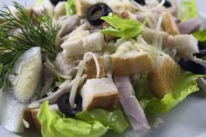 Free Chicken Caesar Salad Royalty Free Stock Image - 17873076