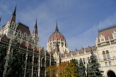 Free View Of The Hungarian Parliament In Budapest Stock Photo - 17873200