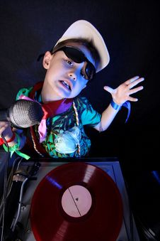 Cool Kid DJ Stock Images