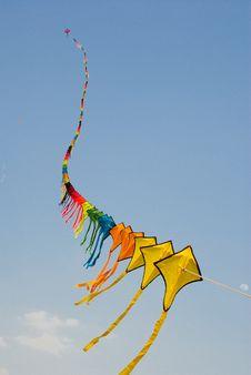 Free Long Kite On The Sky. Royalty Free Stock Photos - 17873708